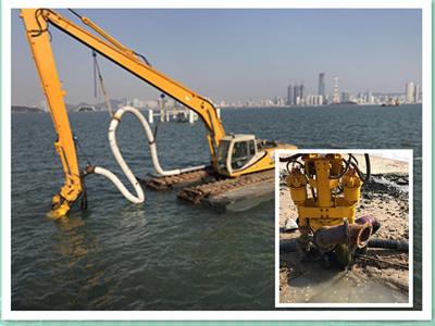 安装到挖机上的液压污泥泵/清淤泵-移动方便、操作简单